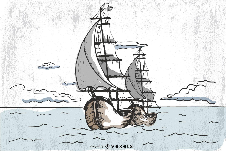Vector Pirate Ship