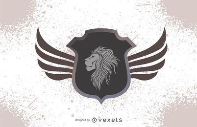 Desenho de crista de cabeça de leão