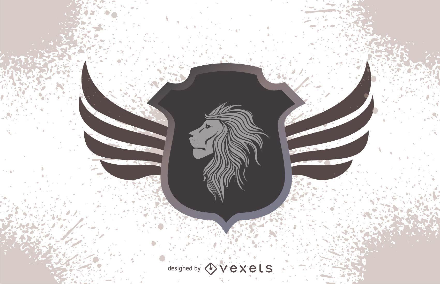 Diseño de cresta de cabeza de león