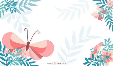 Diseños de mariposas en forma vectorial