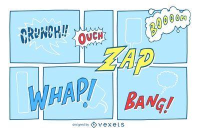 Muestra de tira cómica
