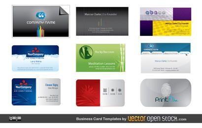 Paquete de diseño de tarjeta de visita