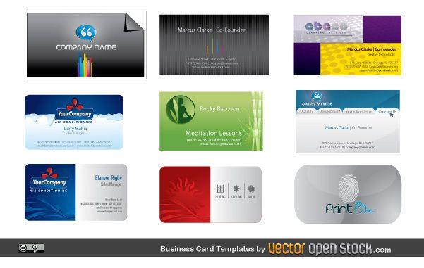 Paquete de diseño de tarjetas de visita