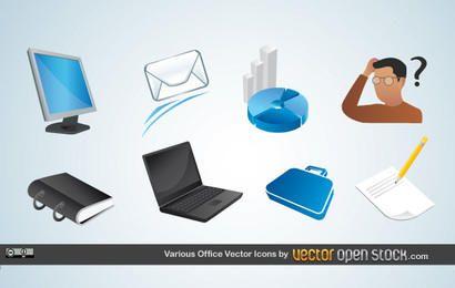 Diversos escritório Vector Icons