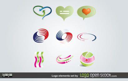 Conjunto de elementos de logotipo