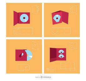 Design de Pacote de Vetores Portacds