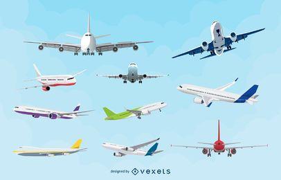 Aviões vetoriais realistas