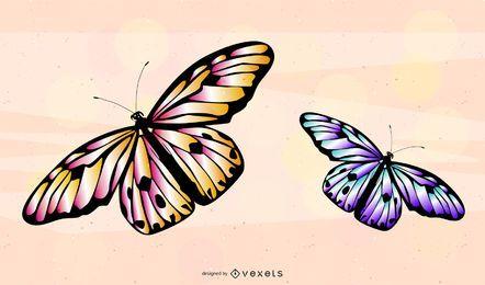 Vetor de borboleta 3D