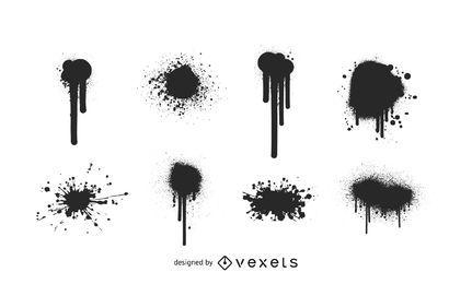 Salpicaduras de vectores