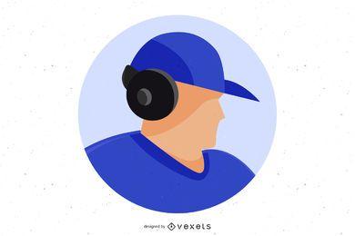 Niño con gorra vector