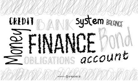 Nuvem de palavras financeiras
