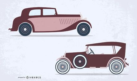 Vector de coche viejo