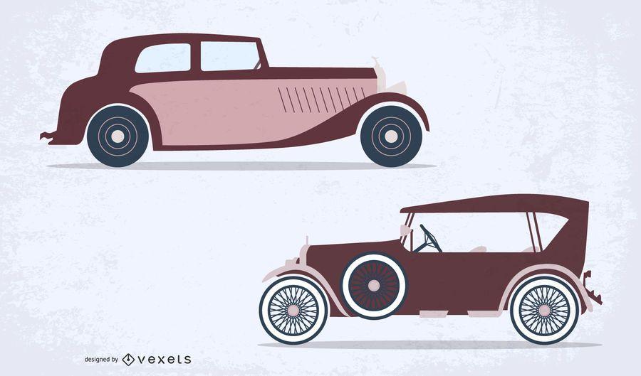 Vetor de carro velho