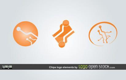 Elementos del logotipo de chip