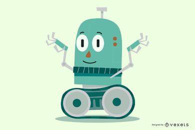 Personagem de desenho animado robô
