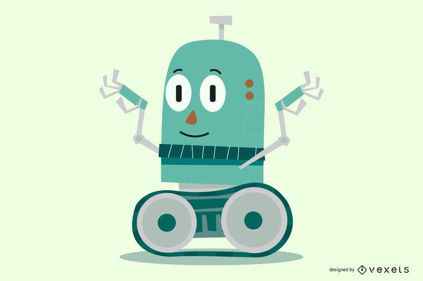 Personaje de dibujos animados robot
