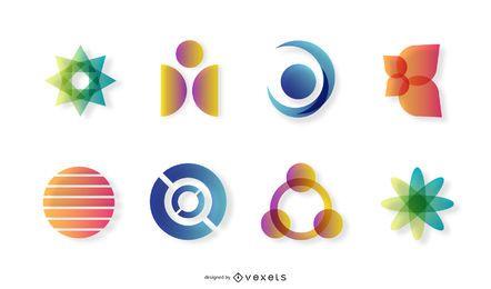 Verschiedene farbige Logos