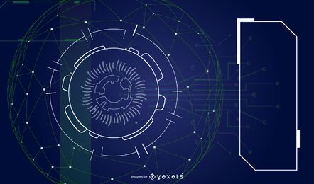 Fondo abstracto vector futurista