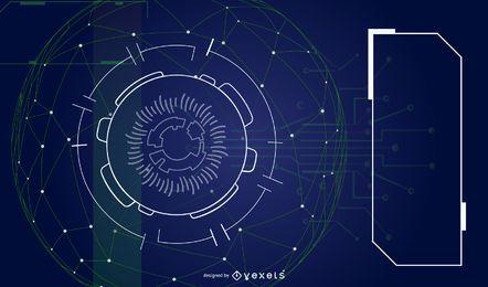Fundo futurista abstrato do vetor