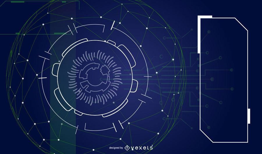 Fondo de vector futurista abstracto