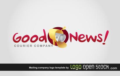 Modelo de logotipo da empresa de correspondência