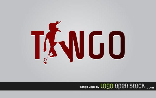 Plantilla de logotipo de tango