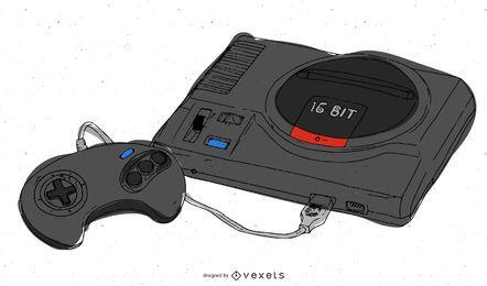 Vector libre de Sega Mega Drive
