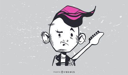 Cara de punk vector