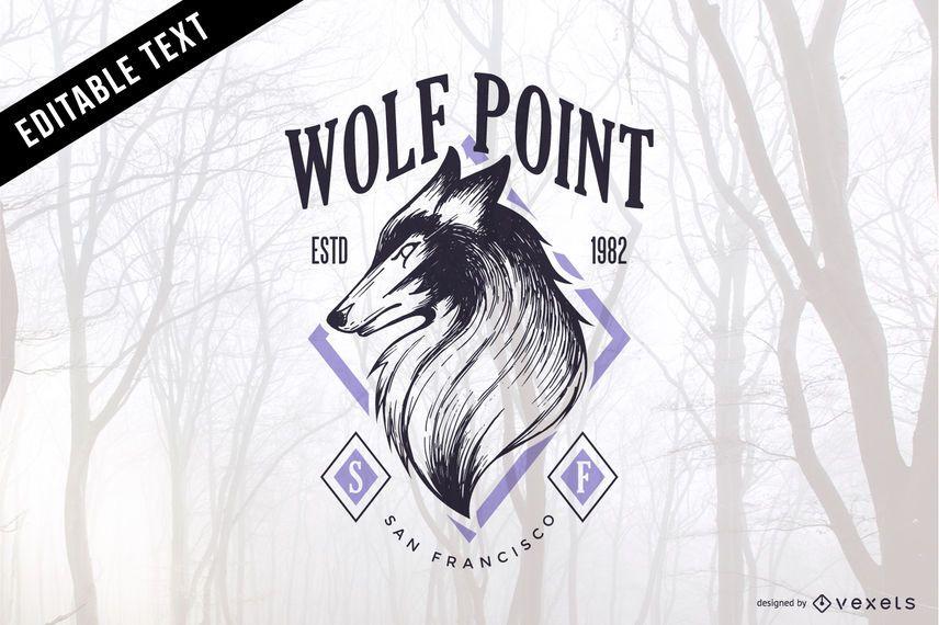 Emblema do vetor lobo