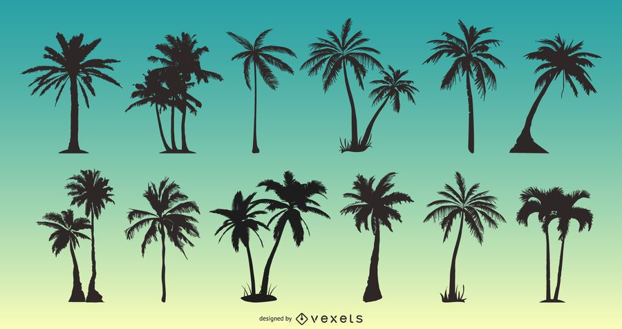 Palm Tree Silhouette Pack