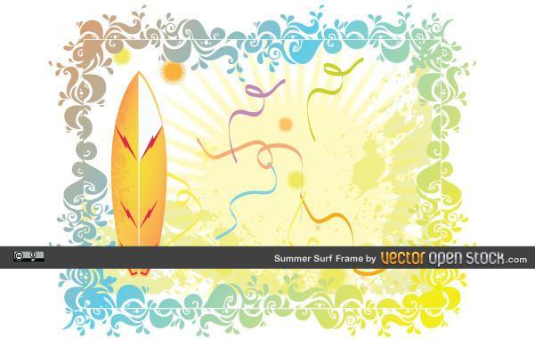Marco de la resaca del verano - Descargar vector