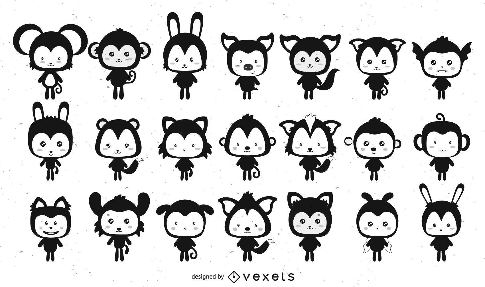 Kawaii Pets Pack Set 21 Personajes
