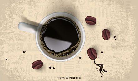 Tropfende Kaffeebohne 2