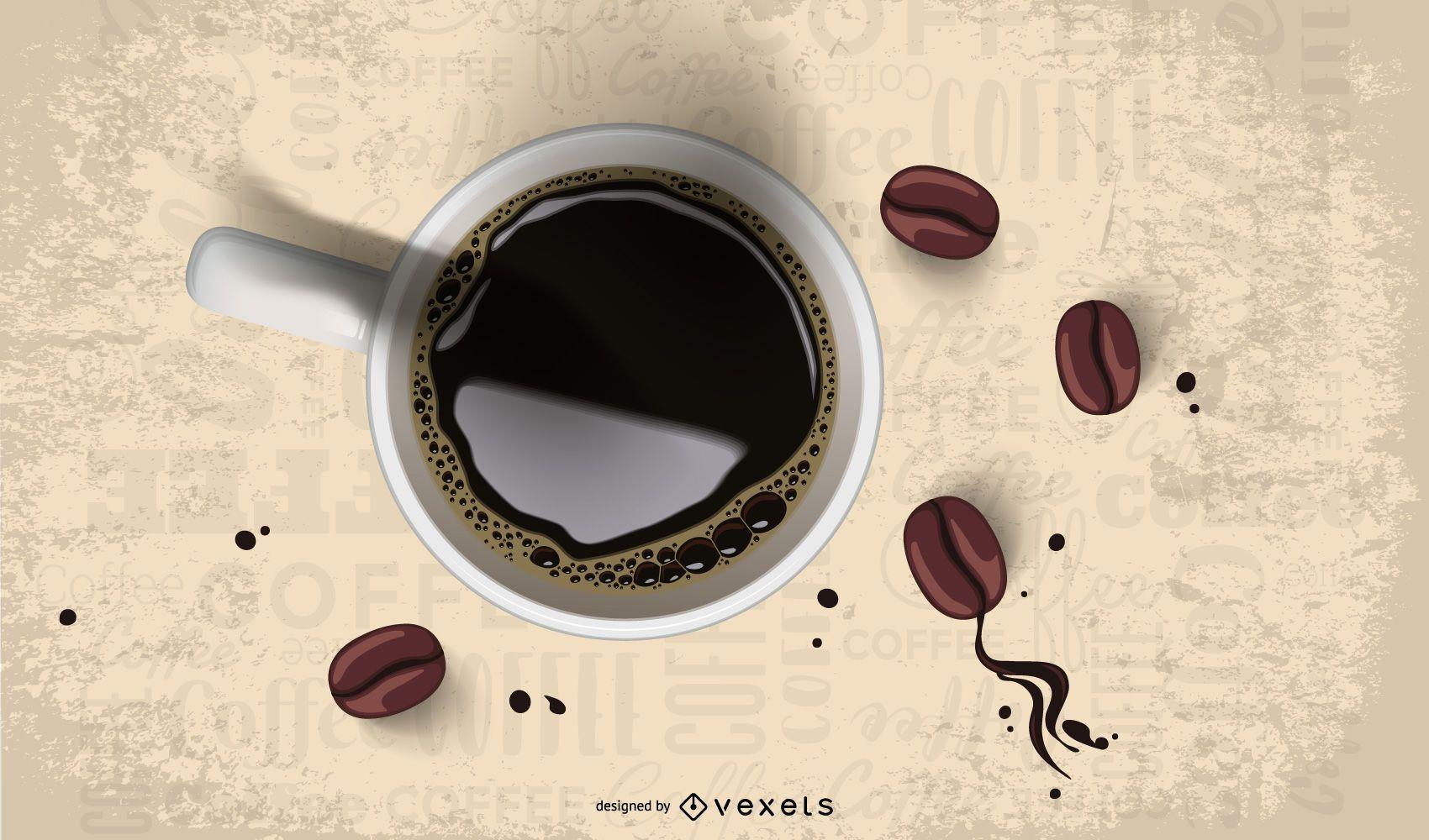 Pingando café em grão 2