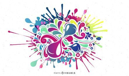 Color Bomb Vector Illustration