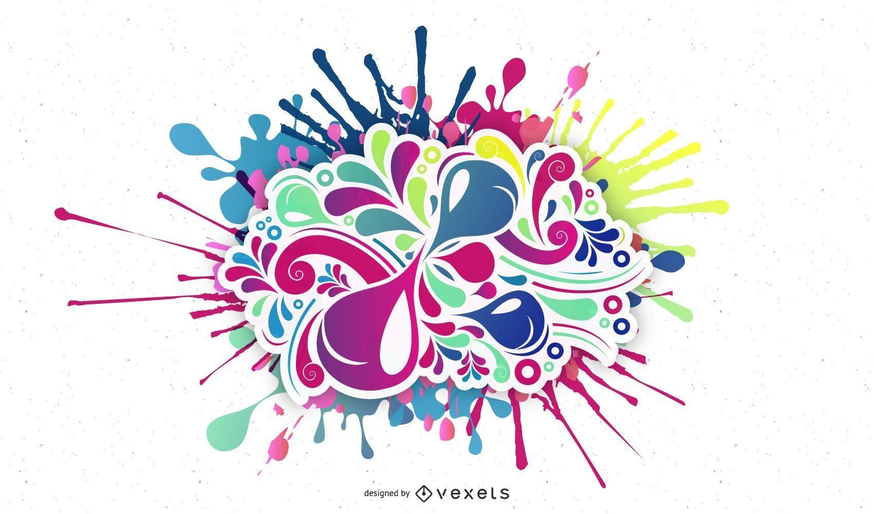 Ilustración de vector de bomba de color