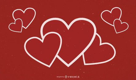 Heart Outlined Background Design