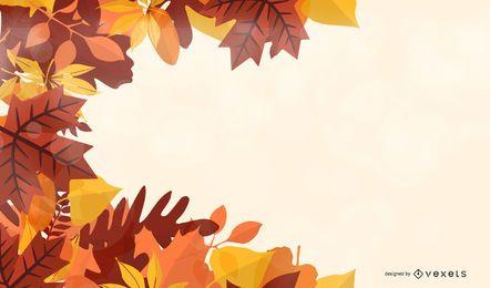 Fondo con hojas de arce