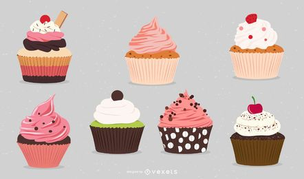 Free vector cupcakes