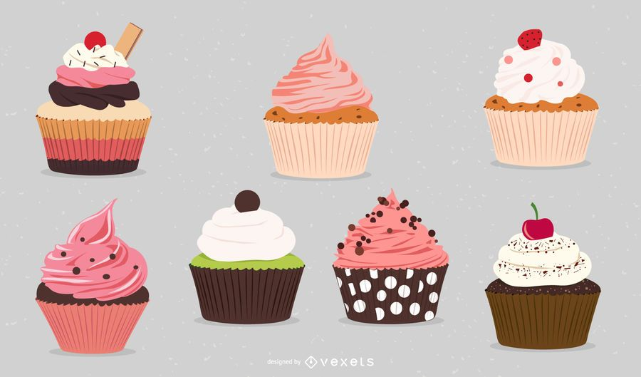 Vector libre cupcakes
