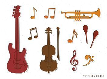 Musical instruments and notes