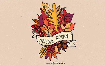 Buquê de folhas de outono