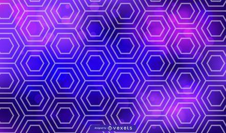 Blauer und purpurroter sechseckiger Vektor