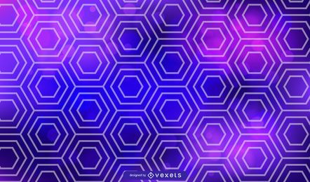 Vector hexagonal azul y morado
