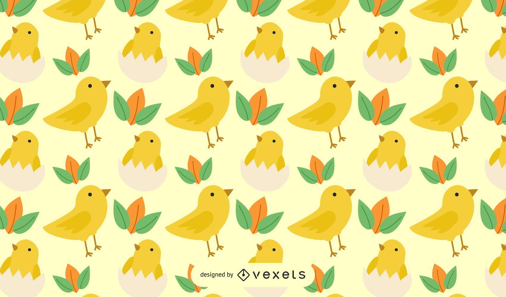 Seamless pattern chicken