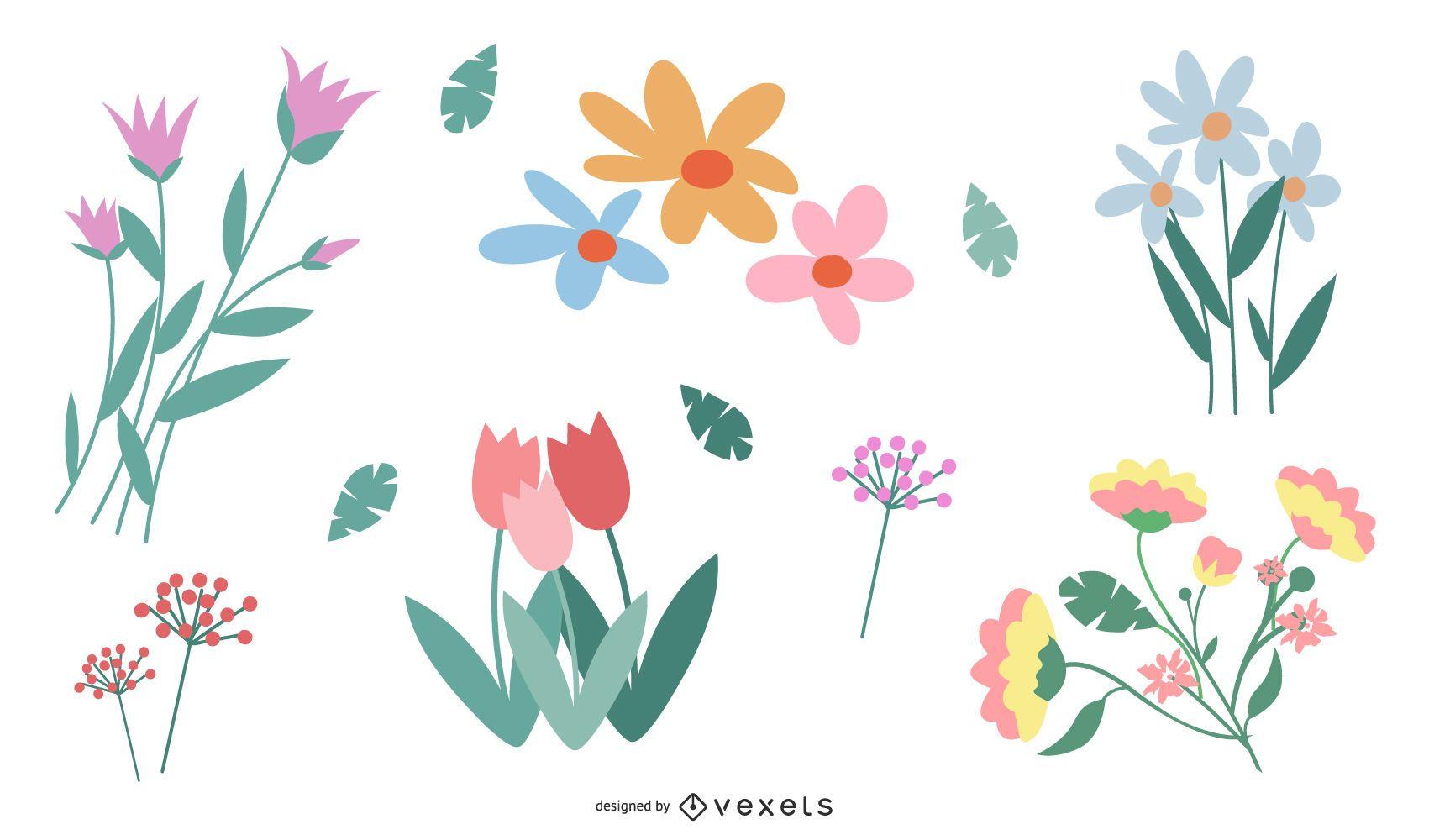 Vector de flor en color
