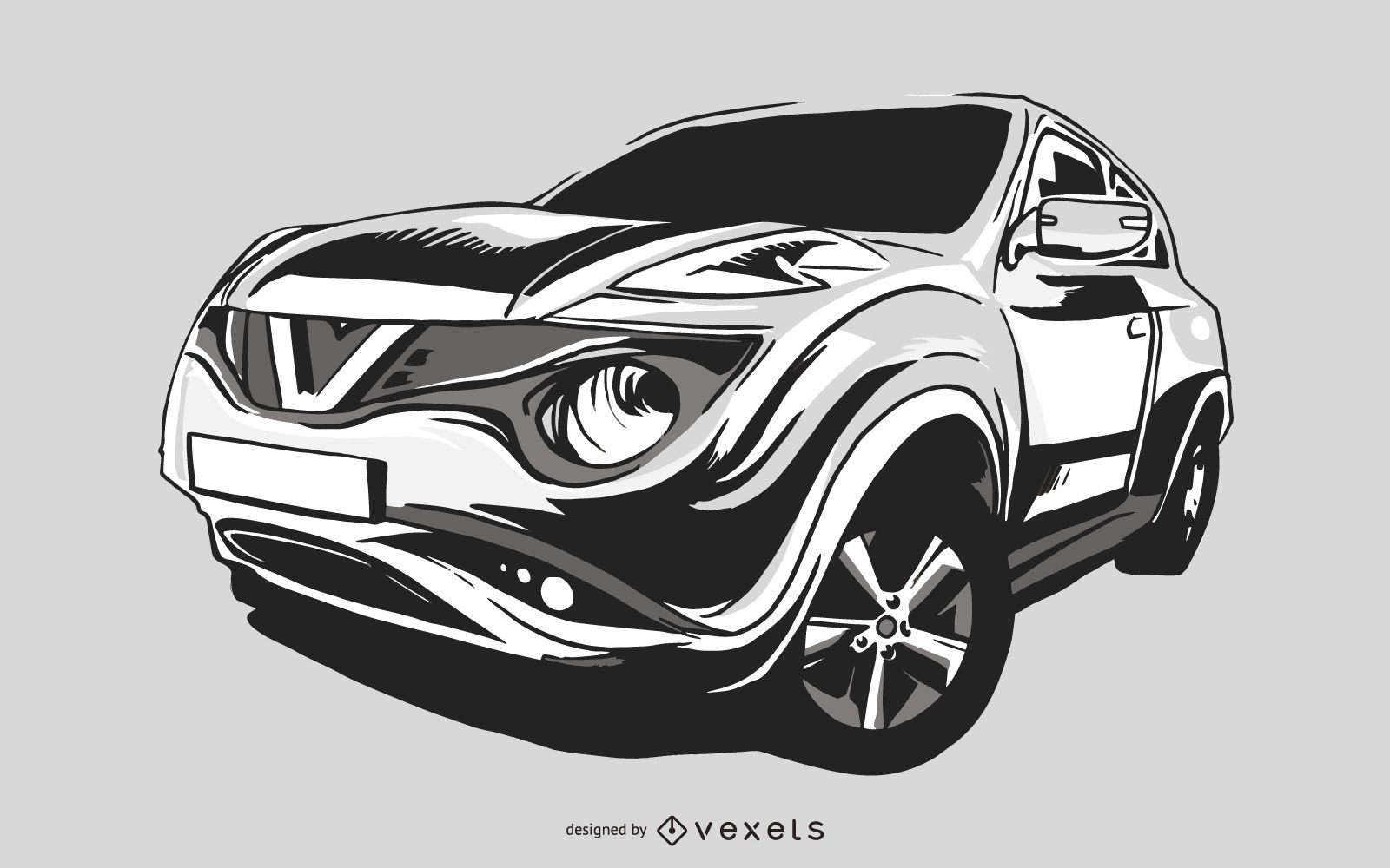 Imagen vectorial de coche deportivo