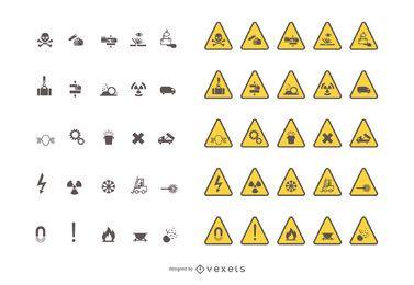 Sinais de trânsito de aviso