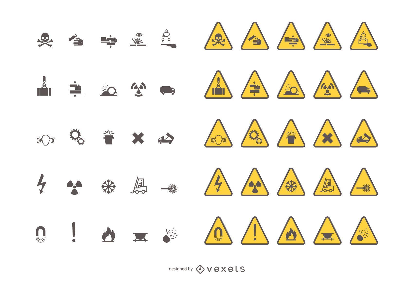 Señales de tráfico de advertencia