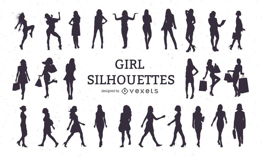 Girl Silhouette Set